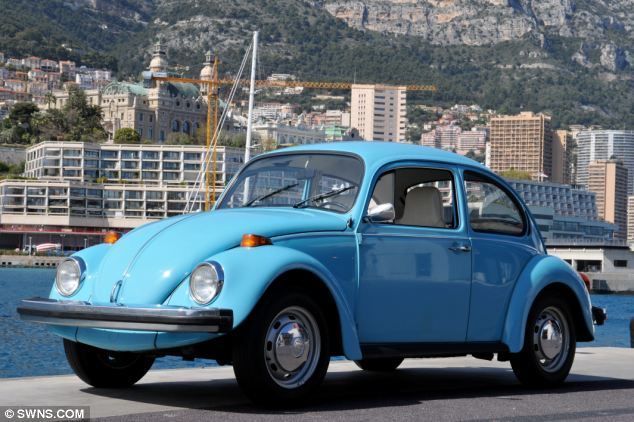 Under the hammer: Prince of Monaco's VW Beetle is expected to fetch £3,200