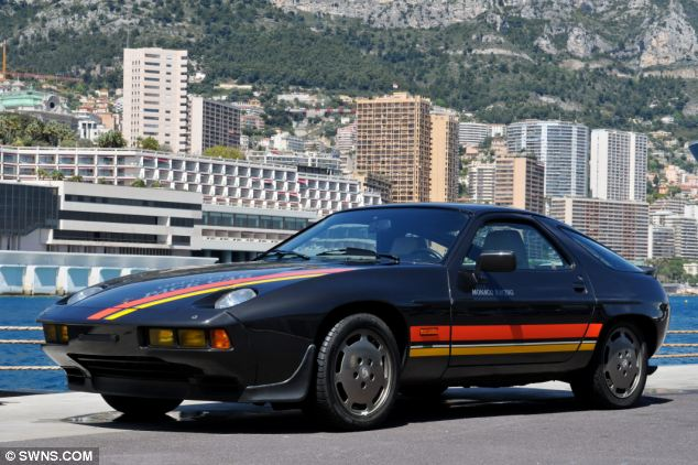 Retro: A Porsche 928 was one of the high-lights of the sale, and is expected to fetch £312,000