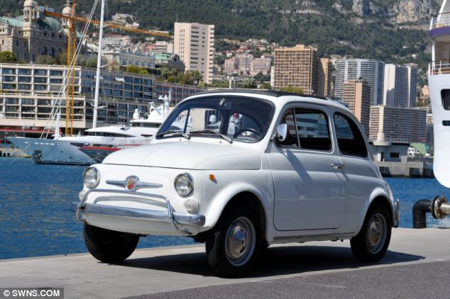 King of the road: This 1971 Fiat 500 owned by the Prince of Monaco is expected to fetch £4,800