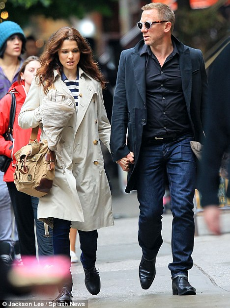 Gorgeous couple: Rachel and Daniel are rarely seen out in public, here they're on a rare walk in New York
