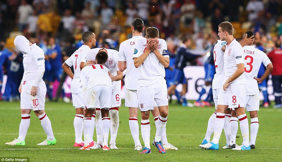 Eliminated: We might have guessed that England's match with Italy was always going to come down to penalties