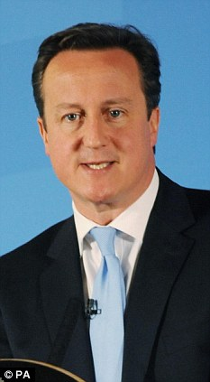 Up for a fight: David Cameron has promised to battle attempts to get Britain to join the banking union