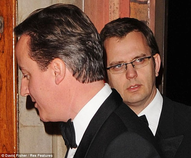 Replacement: Mr Oliver came into Downing Street after Andy Coulson, pictured with David Cameron, quit because of the hacking scandal