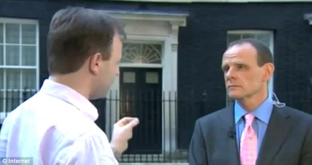 Row: Head of Communications for Craig Oliver was inadvertently caught on camera berating a BBC correspondent, Norman Smith, outside No. 10 Downing St last month