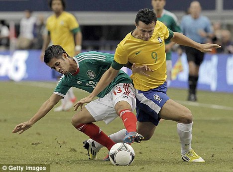 Spurred on: Tottenham have been tracking the Brazil star for a number of years