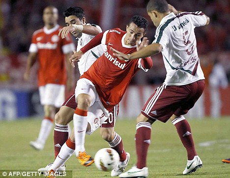 Staying put: Damiao says he is happy to remain at Internacional for now