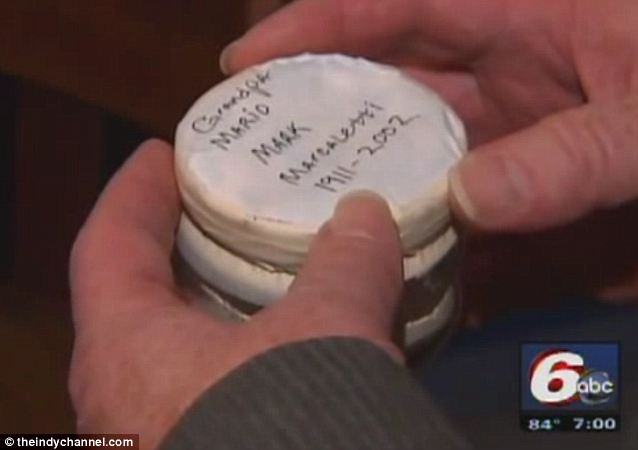 The ashes were in a tightly sealed jar and clearly marked 'Human Remains'