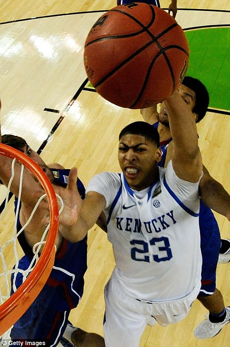 Standout: Davis led the Kentucky Wildcats to victory in the NCAA tournament this year and is now expected to be the No. 1 NBA draft pick