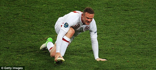 Struggling: Rooney seemed out of condition in Ukraine