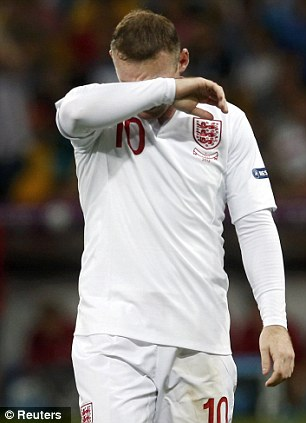 Far from his peak: Rooney lacked his trademark burst of pace at Euro 2012