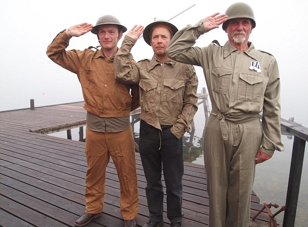 Men in 1940s uniform