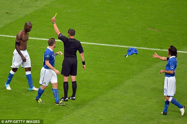 Booked: French referee Stephane Lannoy had no option