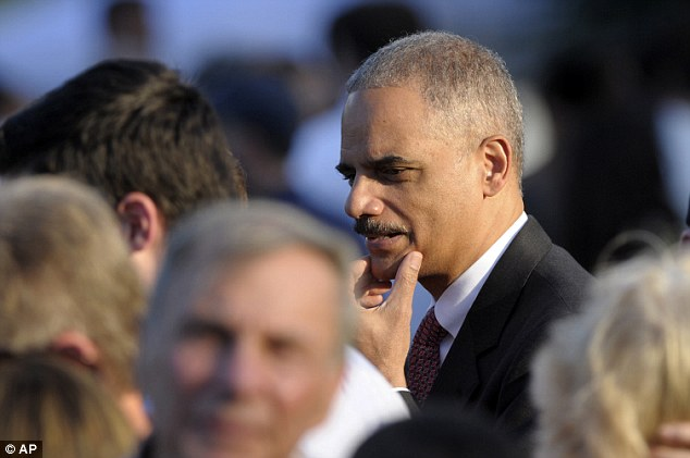 Under pressure: The censure of Attorney General Eric Holder (pictured), in which a number of Democrats are poised to join Republicans, would also be a major embarrassment for Obama