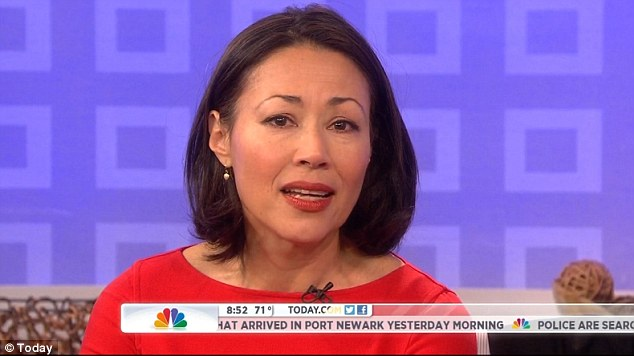 In her tearful farewell Ann Curry said: 'I did not expect to leave this couch after 15 years but I am so grateful, especially to everyone who watched. We often call ourselves a family but you (the viewers) are the real family'