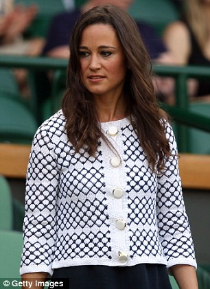 Pippa's macrame jacket finished her outfit nicely