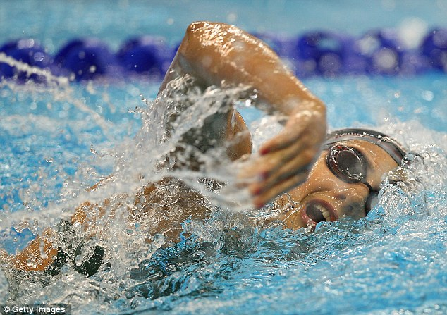 Accomplished: Stephanie Rice of Australia competes in the Semi Finals of the Women's 200 Metre Freestyle