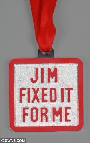 Even Sir Jimmy's coveted original Jim'll Fix It aluminium medals with red ribbons have soared in value with one in the sale expected to fetch £300 to £500