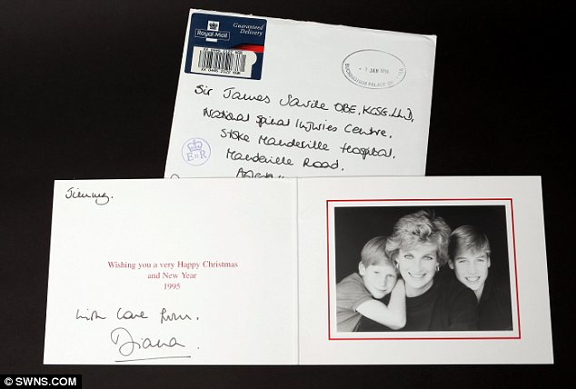 Family friends: A host of Christmas cards signed by Prince Charles and Princess Diana are set to go under the hammer estimated at £300 to £500 each alongside some fascinating personal gifts from Charles