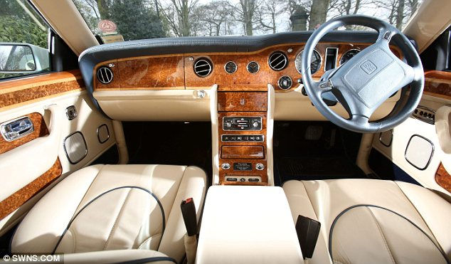 Nice inside: The luxury car had been expected to fetch £60,000-£90,000