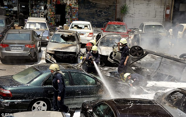 No claim of responsibility: It was not clear who was behind today's blast in Damascus