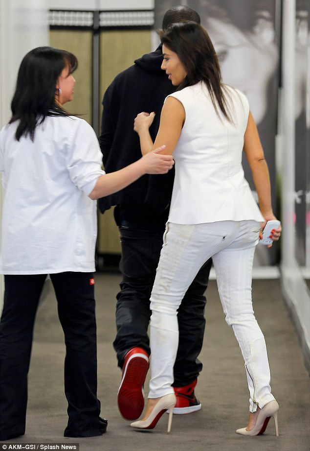 I can't believe you got him to come! Kim's technician appeared thrilled to have the famous couple at her salon