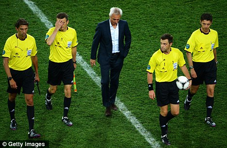Disaster: Van Marwijk presided over Holland's dreadful Euro 2012 campaign