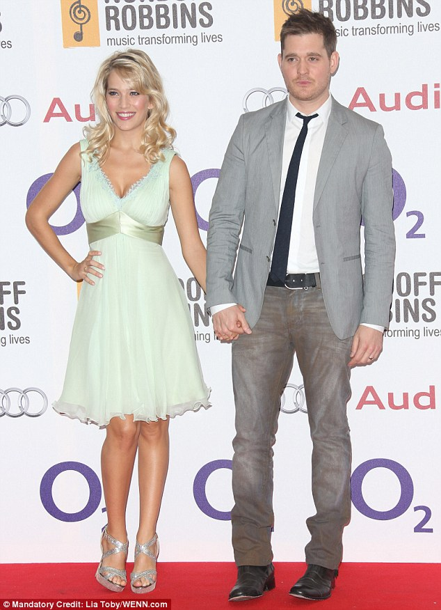 Mr and Mrs Bublé: Canadian crooner Michael flew in from his homeland with wife Luisana Lopilato