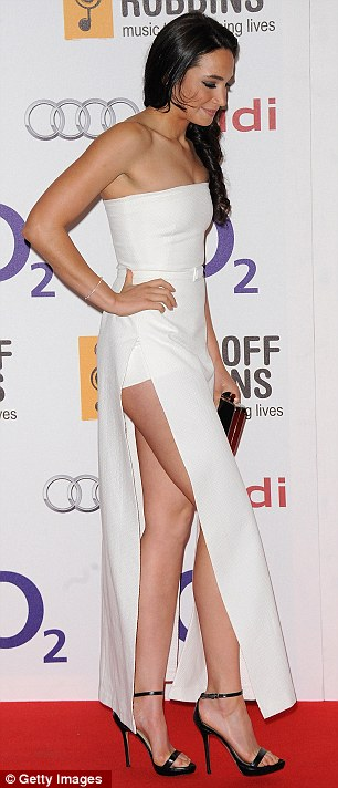 No contest: Jessie J might be the established star but she was overshadowed by Laura on the red carpet