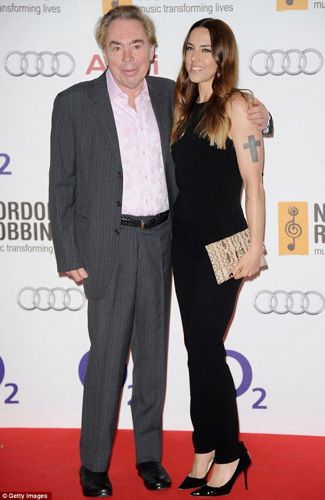 Jesus Spice Superstar: Andrew Lloyd Webber and Melanie Chisholm posed for a picture - she has been cast in his new rock opera production