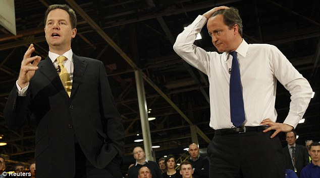 Millstone: Freed from coalition government, Cameron might be able to draw up a genuinely conservative manifesto