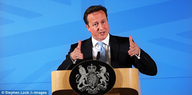 Heartening: David Cameron said in a speech on welfare that the young and able-bodied should not receive housing benefit