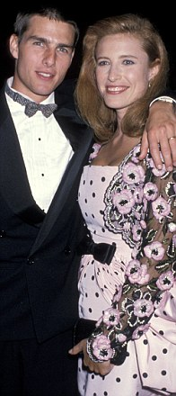 MIMI ROGERS: Cruise married actress Rogers in May 1987; they divorced in February 1990. Rogers is believed to have introduced Cruise to Scientology.