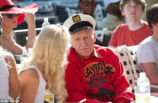 King: Former girlfriend of Hugh Hefner, Playboy magazine crowned Bechard Miss November in 2010, and she also started an online photo-sharing craze called 'Frisky Friday'