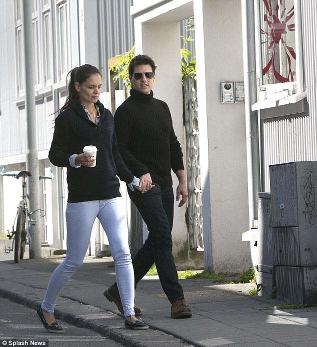 This is the last picture of Tom Cruise and Katie Holmes walking on the streets of Iceland's capital Reykjavik as the superstar films his latest movie