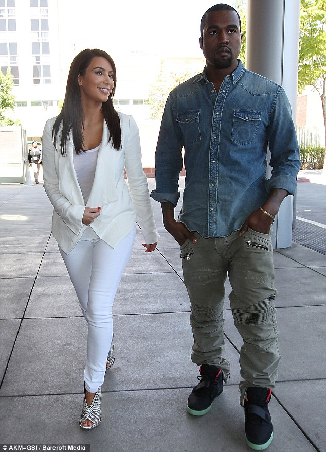 Good eggs, really: Kim and Kanye visited a children's hospital later in the day