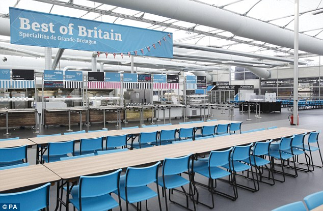 Place to eat: Facilities at the Olympic and Paralympic Athletes' Village have been revealed