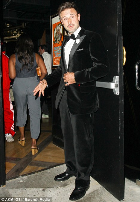 New venture: Arquette poses at his newly-opened club, Bootsy Bellows, last week in West Hollywood. The club is named for his mother Brenda's burlesque moniker