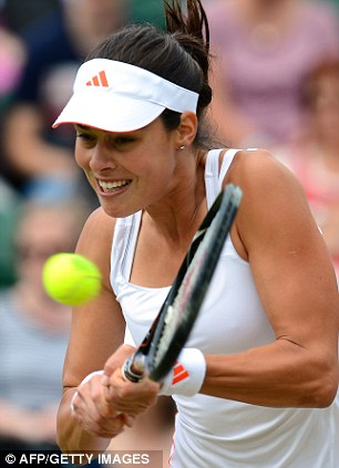 Slow start: Ana Ivanovic was broken early in her first set against Julia Goerges