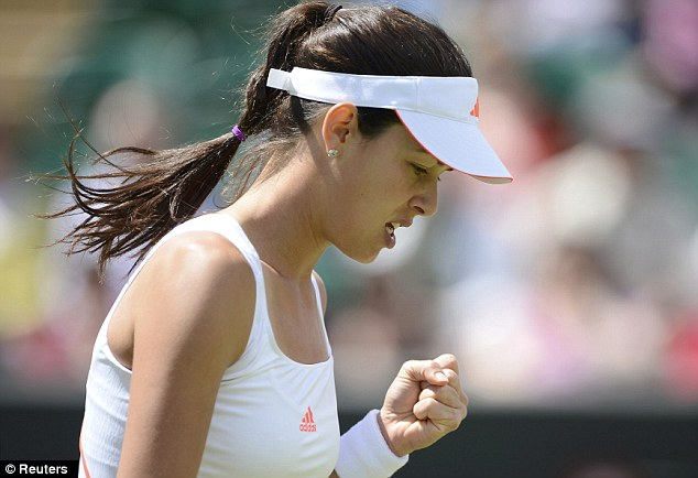 Fighting back: Ivanovic broke Goerges in their second set