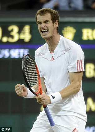 Done it: Andy Murray goes through