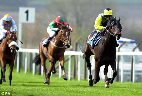 Pay the piper: Forest Tune and Willie Supple (right) win the Beast Fair Maiden Auction Race at Pontefract