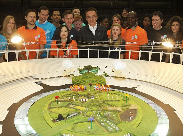 Danny Boyle unveils a model showing how the Olympic stadium will be transformed into a 'green and pleasant land'