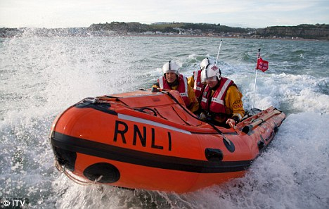 Emergency: An RNLI inshore lifeboat from Tighnabruaich was launched and the Coastguard search and rescue helicopter from Stornoway was scrambled (file picture)