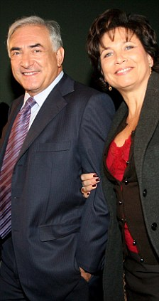 Dominique Strauss-Kahn (left) and his wife Anne Sinclair