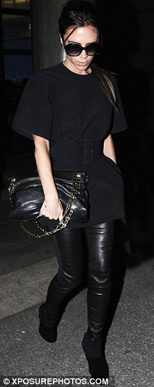 Jet-setter: Victoria flew to London for just one night and was back in LA on Thursday