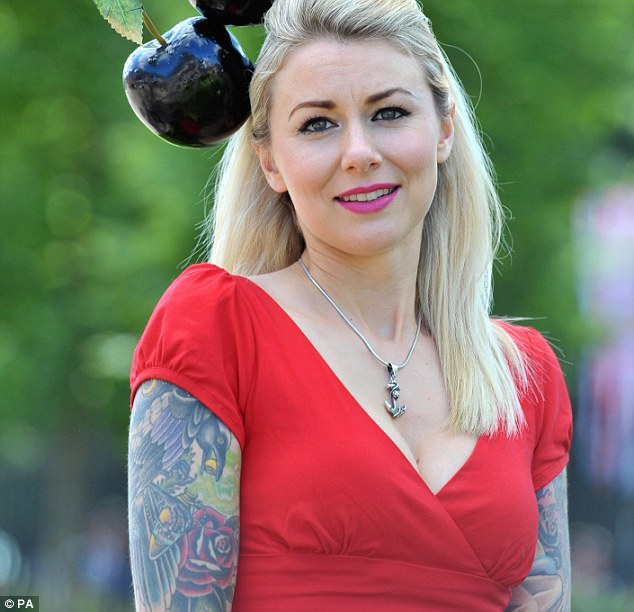 Growing trend:  Joanna Southgate's heavily tattooed caused a stir at Royal Ascot