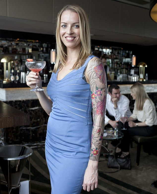 Marked: Beth Hale with her temporary tattoos
