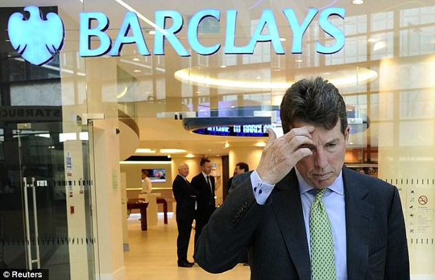 Casting his mind back: Mr Diamond, who is facing calls to resign, is understood to have a 'different recollection' of discussions between Barclays and the Bank to that held by Mr Tucker
