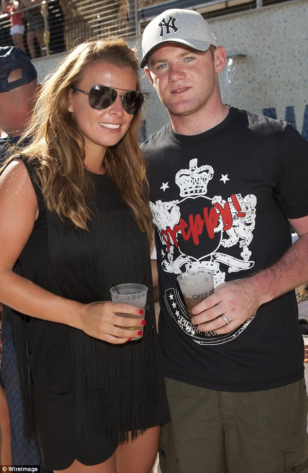 Party animals: Coleen and Wayne Rooney attended a BET Awards party in Beverly Hills on Saturday