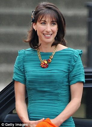 Supporter: Samantha Cameron has spent time as one of the team of 50 volunteers at Dress for Success